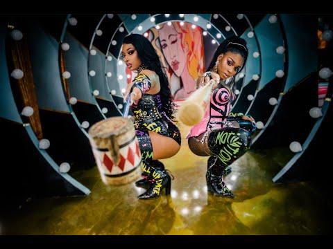 「Megan Thee Stallion & Normani – Diamonds」ミュージックビデオのサムネイル画像です。