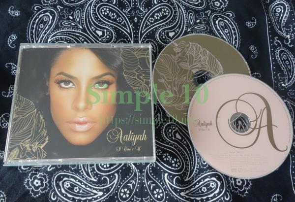「Aaliyah - I Care 4 U」のCDの写真です。