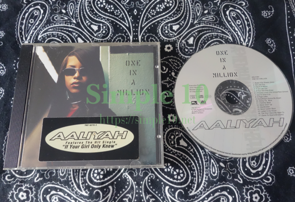 「Aaliyah - One in a MillionのCDの写真です。
