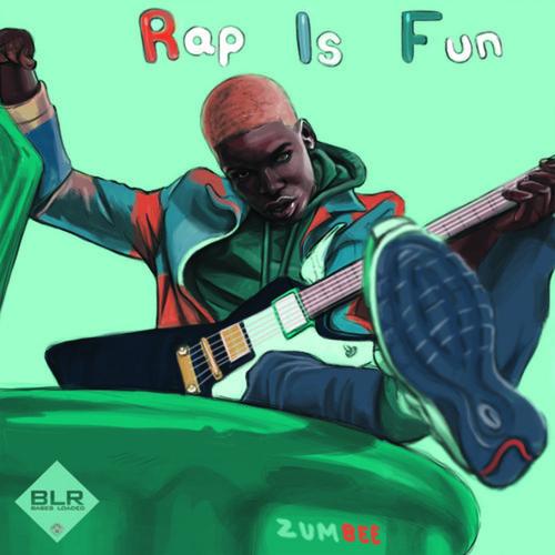 「Zumbee - Rap Is Fun」のミックステープカバー画像です。