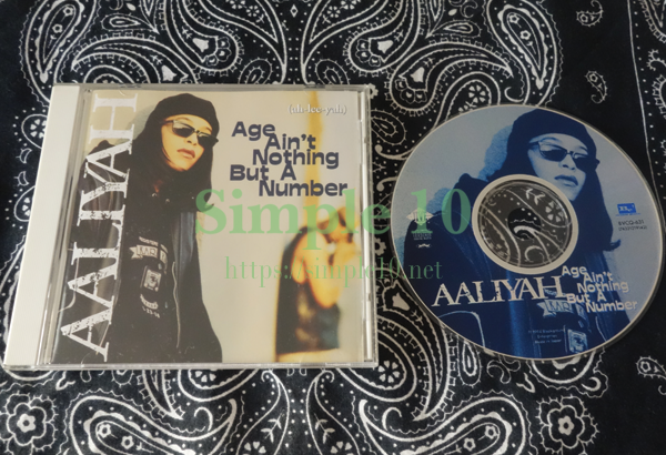 「Aaliyah - Age Ain't Nothing But A Number」のCDの写真です。